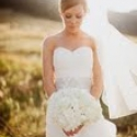 Jamie G in a LaSposa gown for her 2012 wedding
