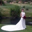 Bride Lauren in Remodeled 1980s Gown